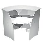 Comptoir à angle 90° Artexport Welcome 60cm (P) x 107cm (H) Blanc