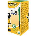 Stylos bille BIC M10 Moyen Vert   50