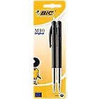 2 stylos à bille   Bic   M10   pointe moyenne   Noir