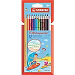 Crayons de couleur STABILO aquacolor Assortiment