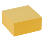 Cube de notes repositionnables   Office DEPOT   76 x 76 mm   jaune