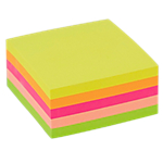 Cube de notes repositionnables   Office DEPOT   76 x 76 mm   coloris néon