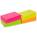 12 blocs de notes repositionnables   Office DEPOT   76 x 127 mm   coloris néon