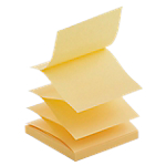 6 blocs de notes repositionnables   Office DEPOT   Accordéon   76 x 76 mm   jaune