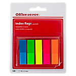 Mini Index repositionnables Office Depot 4,5 (H) x 1,2 (l) cm Assortiment de couleurs fluo   125 mini Index
