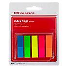 Mini index Office Depot Classique 4,5 (H) x 1,2 (l) cm Assortiment Fluo   125 index
