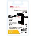 Cartouche jet d'encre Office Depot Compatible pour HP 15 Noir C6615D