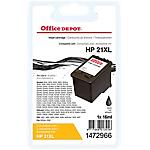 Cartouche jet d'encre Office Depot Compatible HP 21 noir