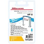 Cartouche jet d'encre Office Depot Compatible HP 11 Cyan