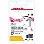 Cartouche jet d'encre Office Depot Compatible HP 11 Magenta