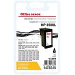 Cartouche jet d'encre Office Depot Compatible HP 350XL noir