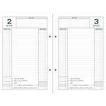 Recharge pour classeur perpétuel Exacompta Caisse 1 Jour par page 24 (H) x 16 (l) cm Blanc