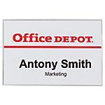 50 badges avec pince et épingle   Office DEPOT