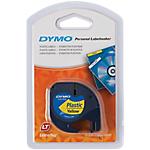 Ruban d'étiquettes DYMO Letratag 91202 1,2 (L) cm Noir sur jaune