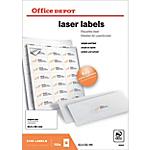 Étiquettes Office Depot Blanc 2100 étiquettes 100 feuilles de 21 étiquettes