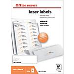 Étiquettes Office Depot Blanc 1600 étiquettes   100 feuilles de 16 étiquettes