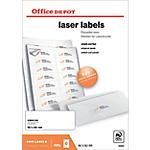 1400 Etiquettes laser coins arrondis   Office DEPOT   99,1 x 38,1 mm