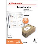 Étiquettes Office Depot Blanc 800 étiquettes   100 feuilles de 8 étiquettes