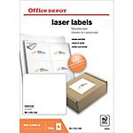 Étiquettes Office Depot Blanc 600 étiquettes   100 feuilles de 6 étiquettes