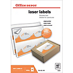 400 Etiquettes laser coins arrondis   Office DEPOT   139 x 99,1 mm