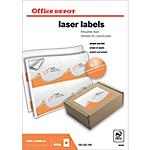 Étiquettes Office Depot Laser Blanc 400 étiquettes 100 feuilles de 4 étiquettes