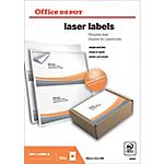 Étiquettes Office Depot Blanc 200 étiquettes   100 feuilles de 2 étiquettes