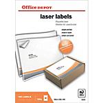 Étiquettes Office Depot Blanc 100 étiquettes   100 étiquettes
