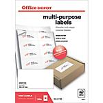 1000 Etiquettes multifonctions   Office DEPOT   coins carrés 105 x 57 mm