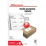 Etiquettes   Office DEPOT   Multi usages   99 x 67 mm   40 feuilles