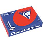 Clairefontaine   500 feuilles papier couleur Trophée A4 80g Rouge corail