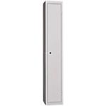 Vestiaire de bureau monobloc EVP 1 case 30 (L) x 50 (l) x 180 (H) cm Gris