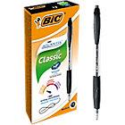 12 stylos à bille   Bic   Atlantis   rétractable   noir