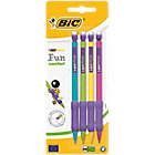 4 porte mines jetables   Bic   Matic Grip assortis   0,7 mm