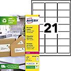 Étiquettes d'adresses Avery LR7160 100 Blanc 2100 étiquettes   2100 étiquettes