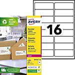 Étiquettes d'adresses Avery LR7162 100 Blanc 1600 étiquettes   1600 étiquettes
