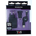 Chargeur secteur et allume cigare micro USB Universel T'nB CHBBFULL2 Noir   2