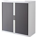 Armoire portes à rideaux   H. 104 x L. 110 cm   Paperflow   easyOFFICE   décor couleur anthracite