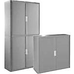 Armoire portes à rideaux Polypropylène, Métal Paperflow 44,2 (H) x 119 (l) x 41,5 (P) cm