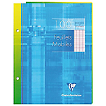 100 Feuillets mobiles   Clairefontaine   A5   Grands carreaux