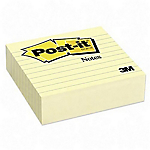 Notes repositionnables Post it 675 YL 10 (H) x 10 (l) cm Jaune   300 feuilles