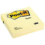 Notes repositionnables Post it Classique 100 (H)  x  100 (l) mm 70 g