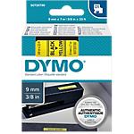 Ruban d'étiquettes DYMO D1 9mm 0,9 (L) cm Noir sur jaune