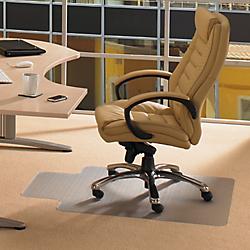 tapis protege sol pvc avec decoupe pour sols durs 90 x 120 cm par office depot. Black Bedroom Furniture Sets. Home Design Ideas
