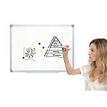 Tableau blanc émaillé magnétique   Bi Office   Earth it   90 x 120 cm
