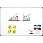 Tableau blanc émaillé magnétique   Office DEPOT   90 x 180 cm