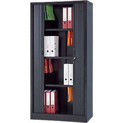 armoire metallique avec portes rideaux rs pro h180 x l90 cm noir par office depot. Black Bedroom Furniture Sets. Home Design Ideas