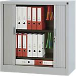 Armoire portes à rideaux H.100 x L.100 cm   Realspace PRO   décor uni Aluminium