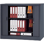 Armoire portes à rideaux WorkPro Tôle d'acier 120 (L) x 45 (l) x 100 (H) cm Anthracite