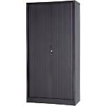 Armoire portes à rideaux H.198 x L.100 cm   Realspace PRO   décor uni noir