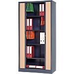 Armoire portes à rideaux WorkPro 100 (L) x 45 (l) x 198 (H) cm Imitation hêtre